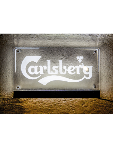 Targha Luminosa in PLEXIGLASS Carlsberg