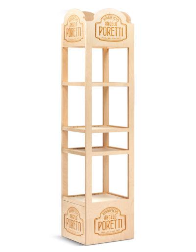 Espositore in legno Poretti