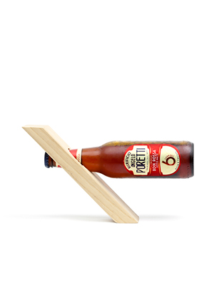 Bottle Glorifier in legno per bottiglie da 33cl