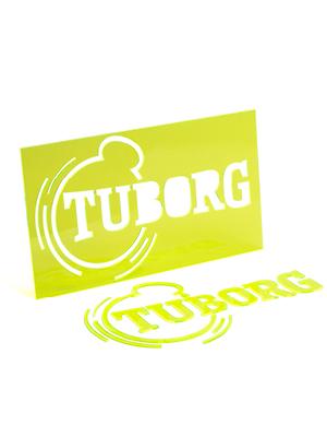 Targhetta Tuborg Plexiglass Fluorescente