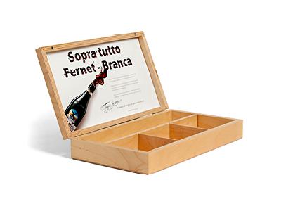 Astuccio in legno Fernet Branca