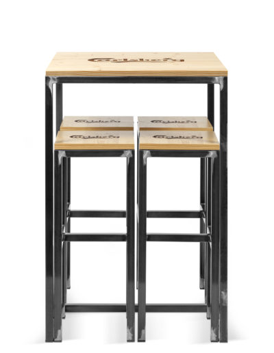 Tavolo H 110cm con Sgabelli (31x31x70cm) Carlsberg