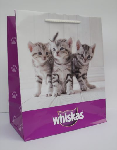 Shopper plastificato lucido Whiskas